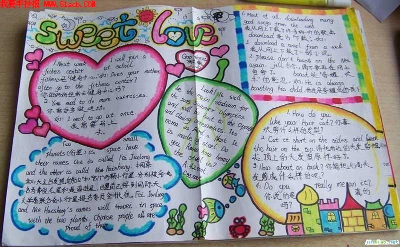 小学生国庆节英语手抄报资料图片