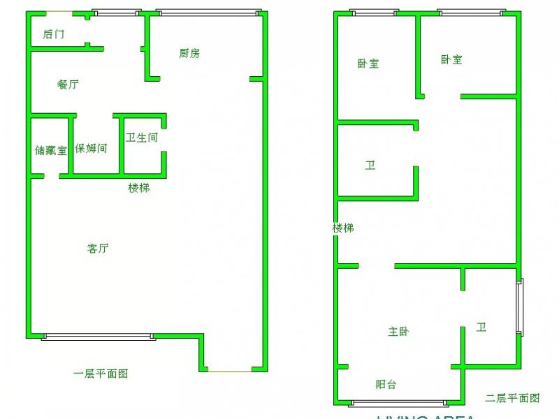 求80平米房子的设计图!三房一厅一厨一卫!加个楼梯可以上二楼.图片