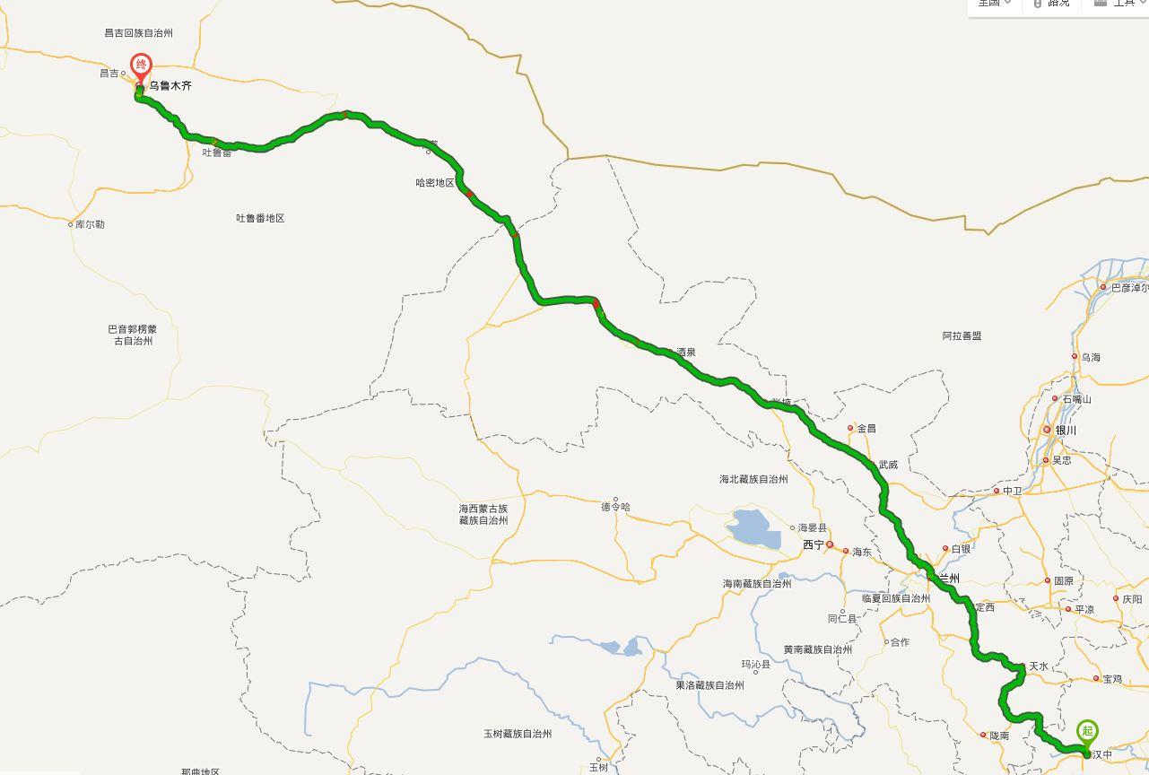 新疆路线图