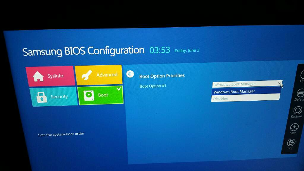 三星电脑bios设置u盘启动