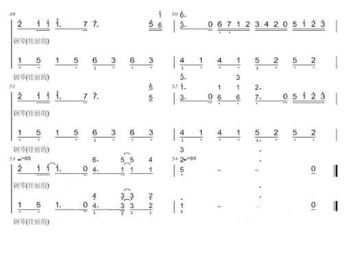 谁有久石让的《summer》乐谱?五线谱和简谱图片