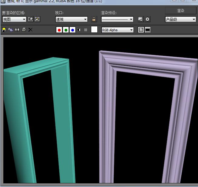 3dmax制作倒角剖面做门框不对图片