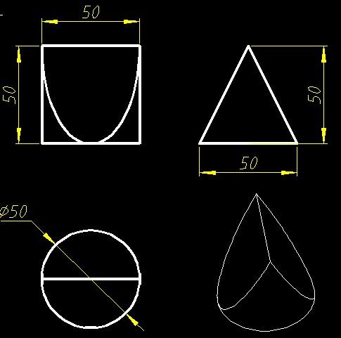 三视图分别是正方形,圆形,正三角形的立体图形是什么图片