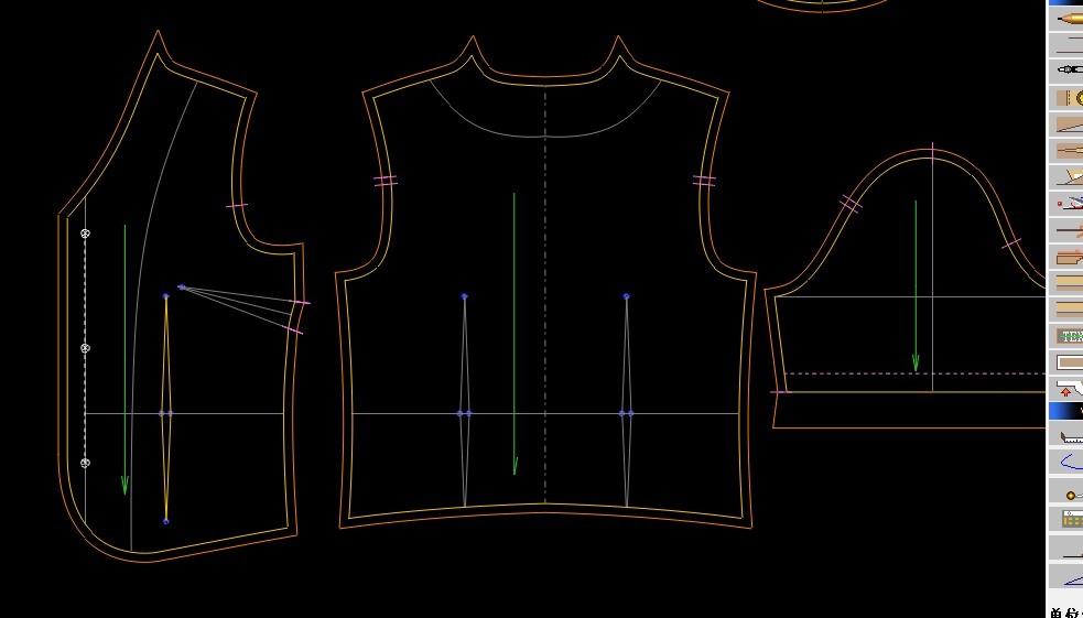 请问服装设计版图上的符号线是什么意思?图片
