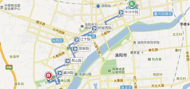 几路公交车到洛阳周山森林公园 高清图片