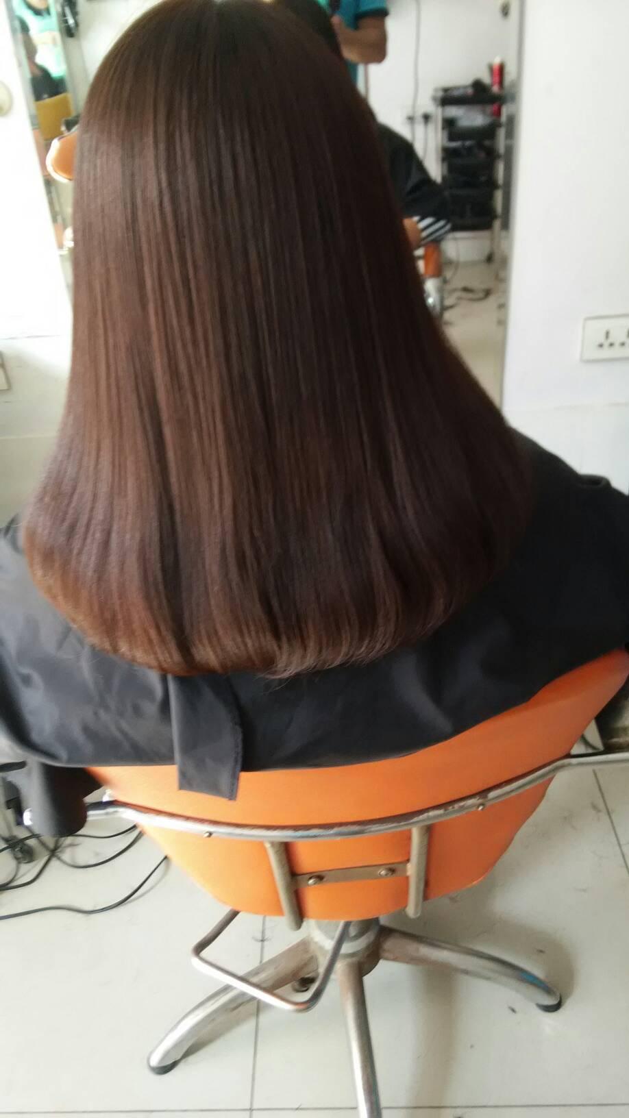这种发型是内扣还是直发?图片