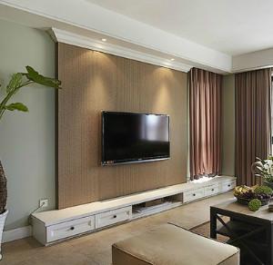 我家客厅不吊顶不打石膏线,电视背景墙想用石膏线走一