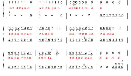 小苹果钢琴谱简谱(左右手)图片