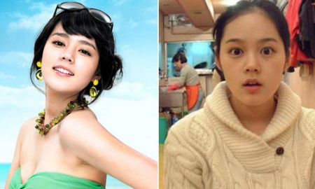 韩国女明星加名字素颜照对比