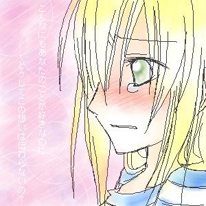麻烦帮我找一个动漫女生流泪侧面的图片