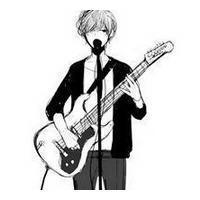 坐着弹吉他的帅男生漫画头像图片