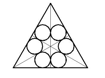 如何用autocad画出正三角形的六个相切的等径圆图片