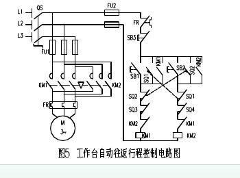 电机的往返就是一个正反转电路,气缸就更简单,两个电磁阀轮流接通.图片