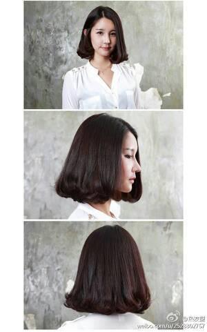 脸大脸圆有点肉肉脖子较短微胖的女生适合留什么发型?图片