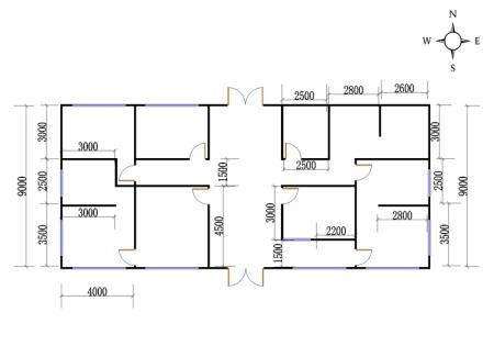 求平房设计图 长20米 宽9米—10.6米图片