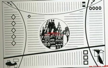 黑白手抄报版面设计图