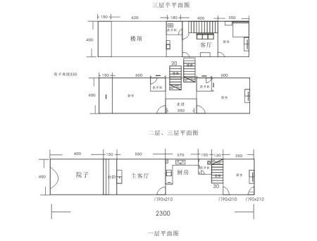 急求!92平方 长方形房子设计图 只可以前后开门图片