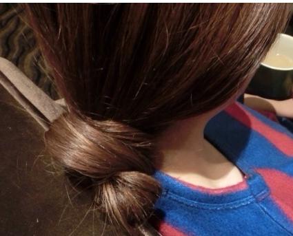 这种头发怎么扎?图片