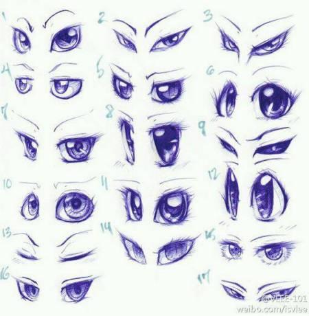 傲慢与偏爱漫画人物眼睛画法图片