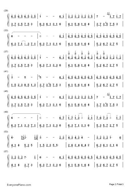 夜的钢琴曲六 的简谱图片