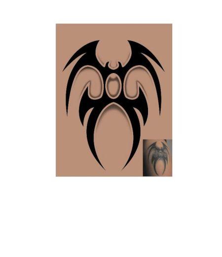 蝙蝠纹身图案图片
