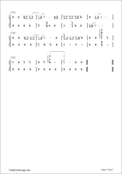 求exo十二月的奇迹钢琴谱 简谱 单手的图片