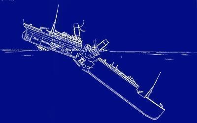 蓝图重现泰坦尼克号沉没过程~~~; 【阿弄】===================大家还图片