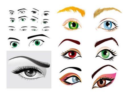 动漫绘画图片大全素描人物眼睛素材图片