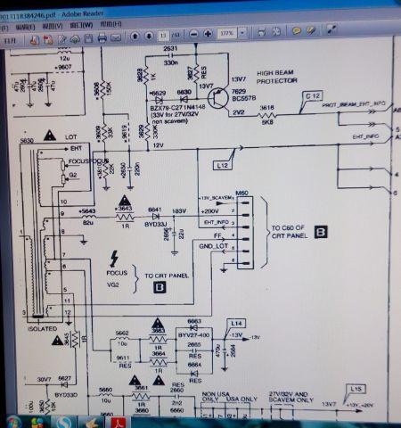 飞利浦34pt5693电视机高压包型号图片