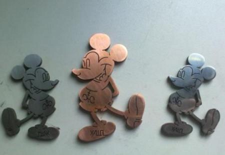 线切割割出来的米老鼠图案图片