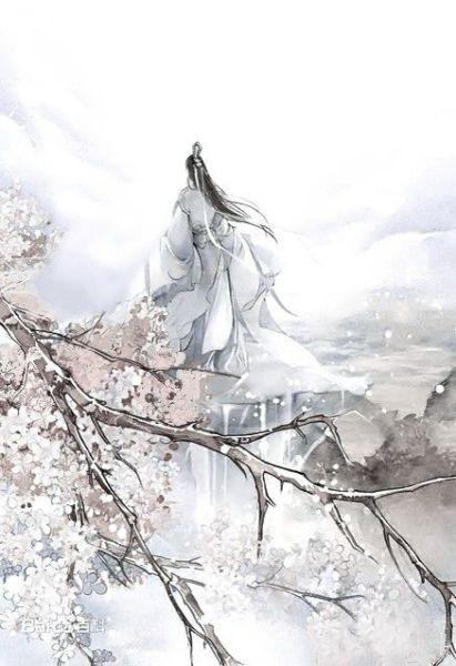 男子站在崖边遥望远方长发飘起双手放在背后的背影图片