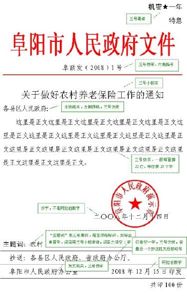 红头文件一般是指政府机关发文图片