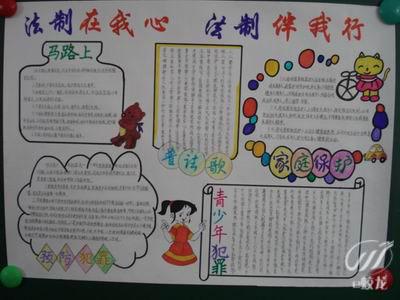 (小学五年级)一份关于法律安全知识的简单手抄报