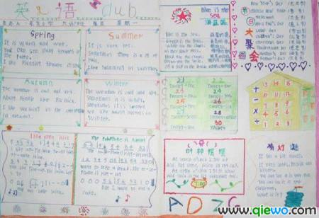 【急】中西方节日英语手抄报怎么画