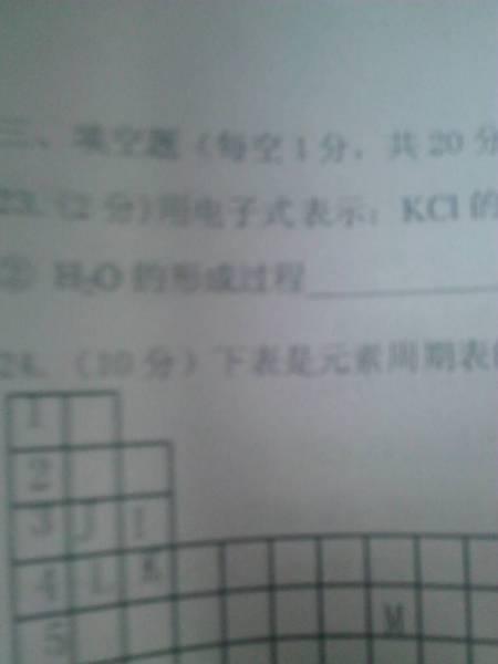 用电子式表示:kcl的形成过程 h2o的形成过程图片