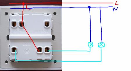 四控开关接线图图片