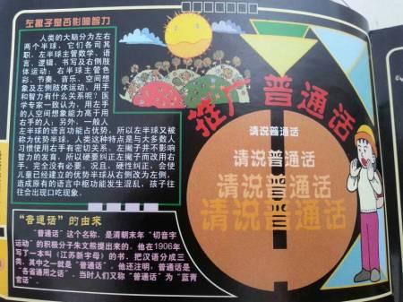 小学生手抄报,讲普通话用文明语言