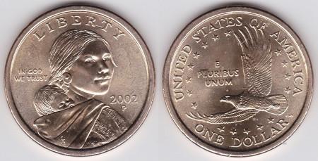 第一枚是美国的硬币 面额1美元