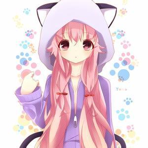 求黄色头发 穿粉色衣服的动漫美少女图片