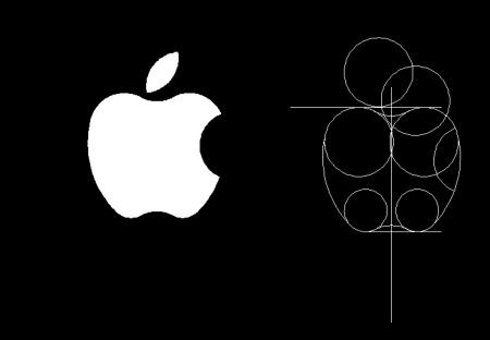 求苹果logo cad的尺寸图纸图片