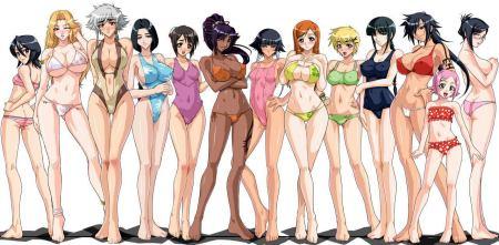 求9个漫画女孩没穿衣服的图片