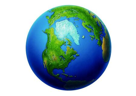 海报的主题是一滴清水,一片绿地,一个地球.图片