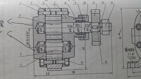 齿轮油泵装配图.图中的4号件【销图片