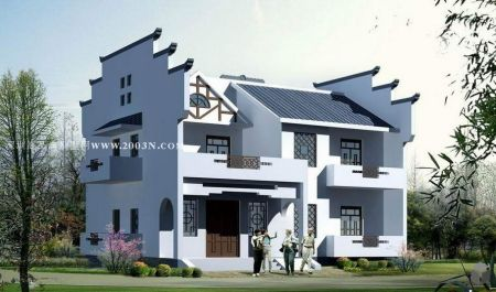 急求一套两层别墅cad设计图/施工图,简单中式别墅.图片