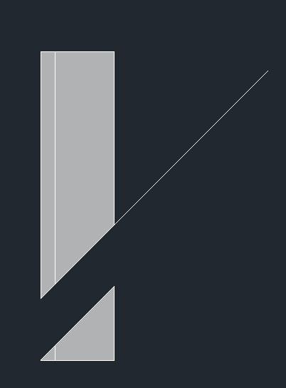 "cad三维实体切割命令""sl"",如下图,画出角钢和一条你想45°切割的线""图片"