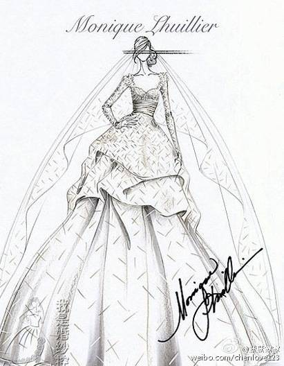 婚纱设计素描图片图片