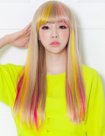 想染头发 什么颜色好看 要图片图片
