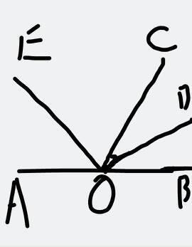 如图,o是直线ac上一点,od是∠aob的平分线,oe是∠boc的平分线图片