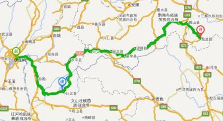 右转,从s305到普者黑国家重点风景名胜区,行驶2.8公里