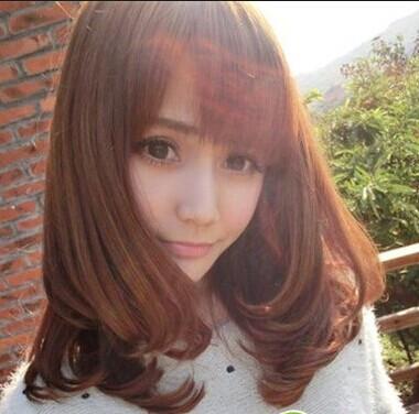 瓜子脸大眼睛一米五五以下的女生适合什么发型图片